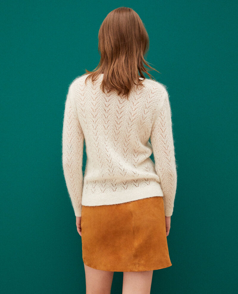 Jumper with mohair and lurex Off white Gigogne