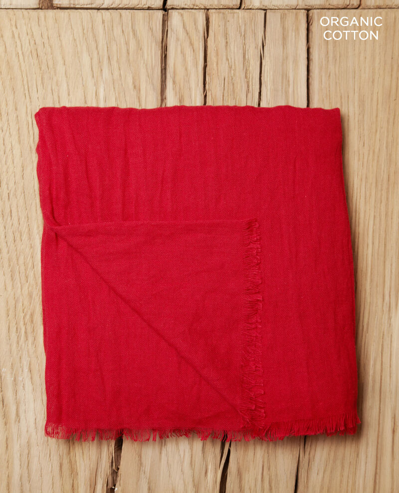 Cotton scarf POMPEIAN RED