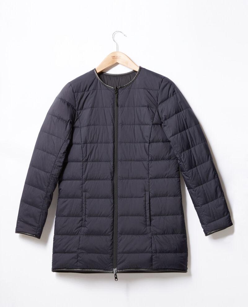 Mid-length reversible padded jacket Navy/noir Dilong
