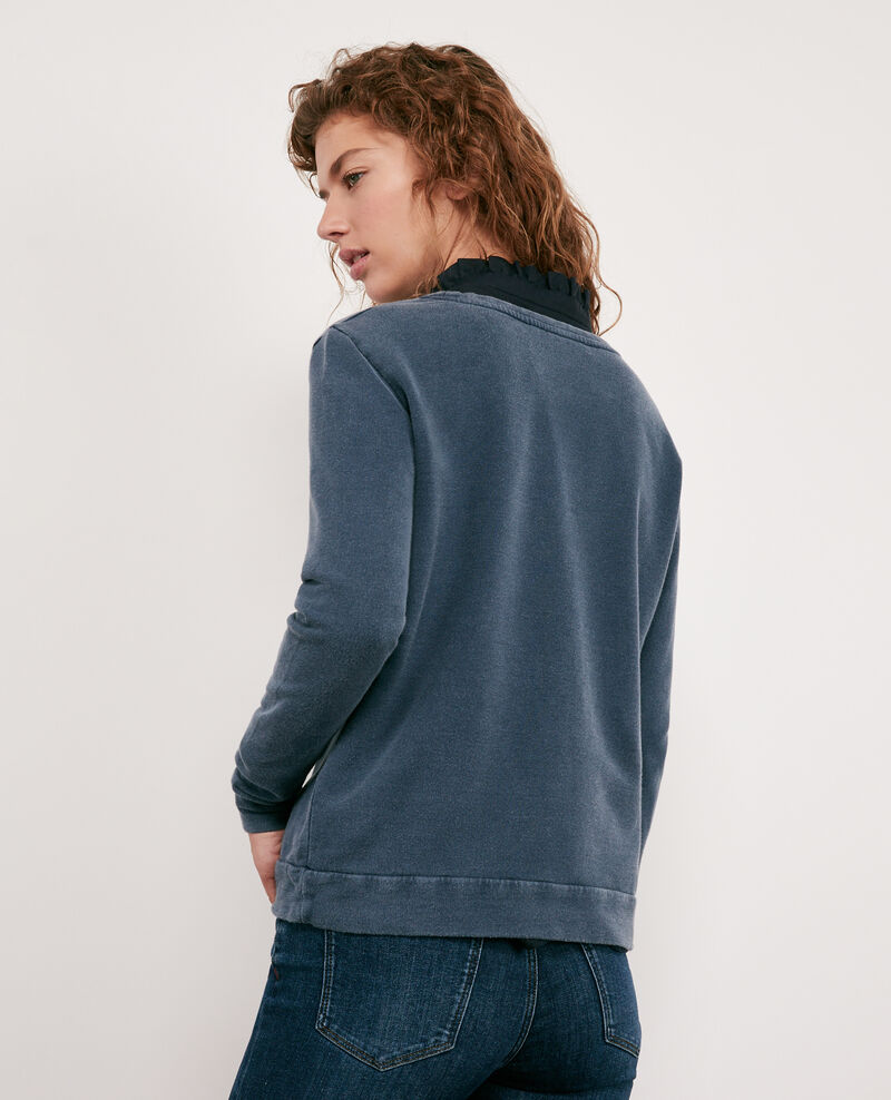 Sweater with Léon print Navy Douchoir