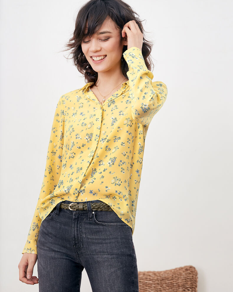 Printed silk shirt LILLYBELL LEMON