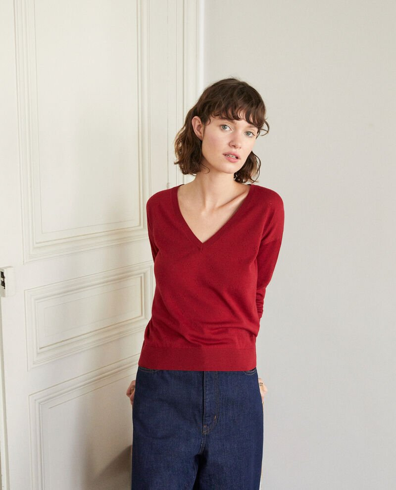 Merino wool jumper RIO RED