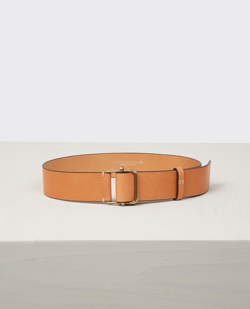 Leather belt Sepia Civil