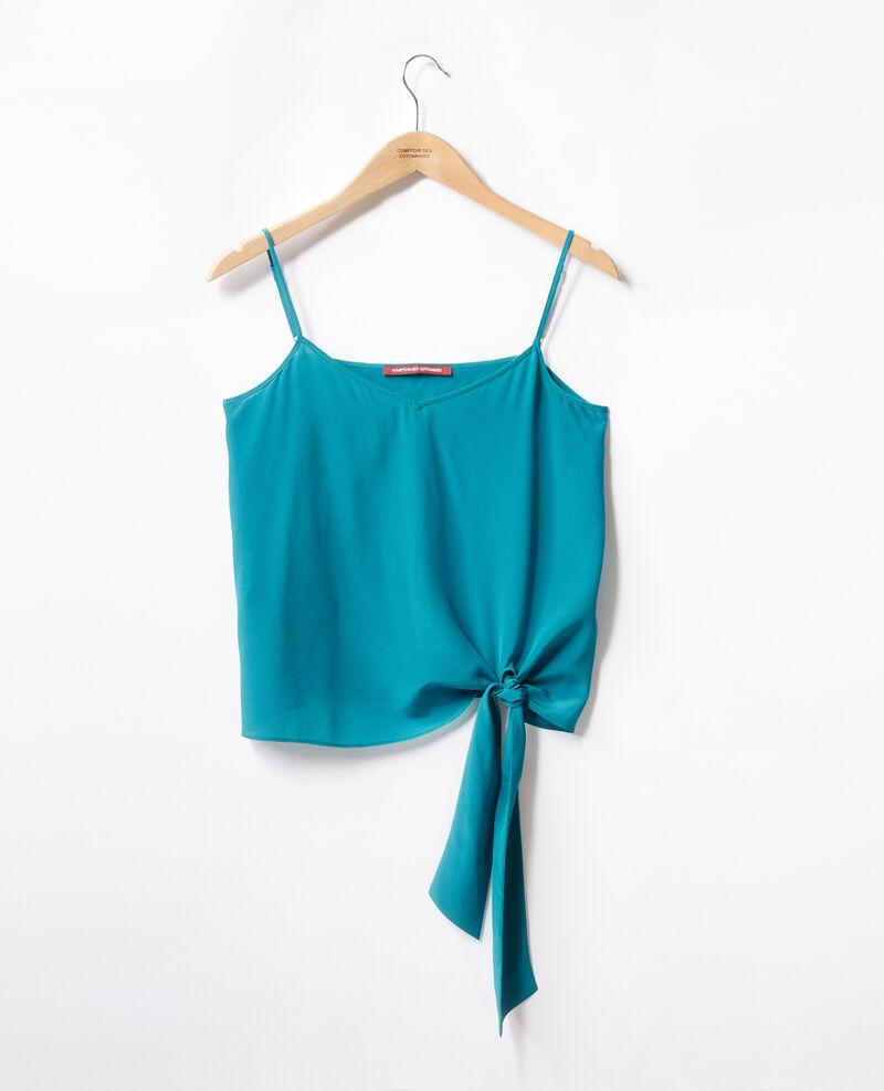 Silk vest PACIFIC GREEN