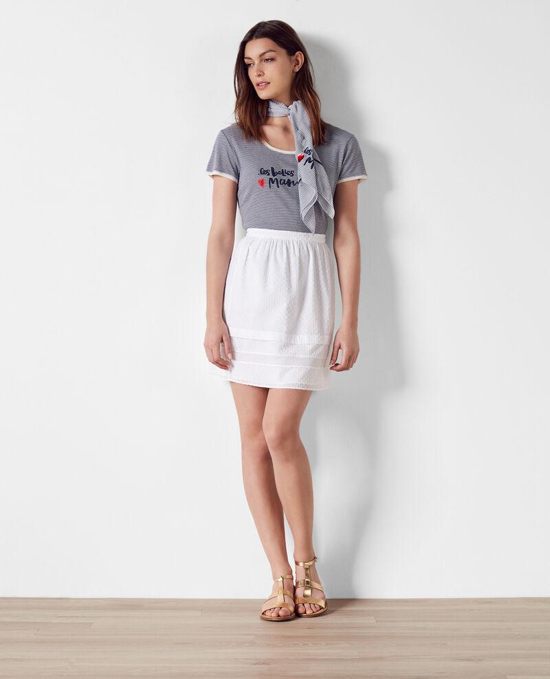 """""""Les belles ♥ manières"""" Breton t-shirt Ink blue Cerf"""