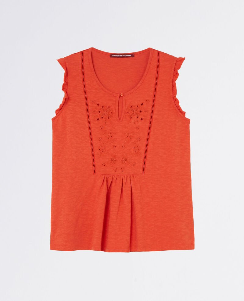 Frilly embroidered t-shirt Tomette Chacha