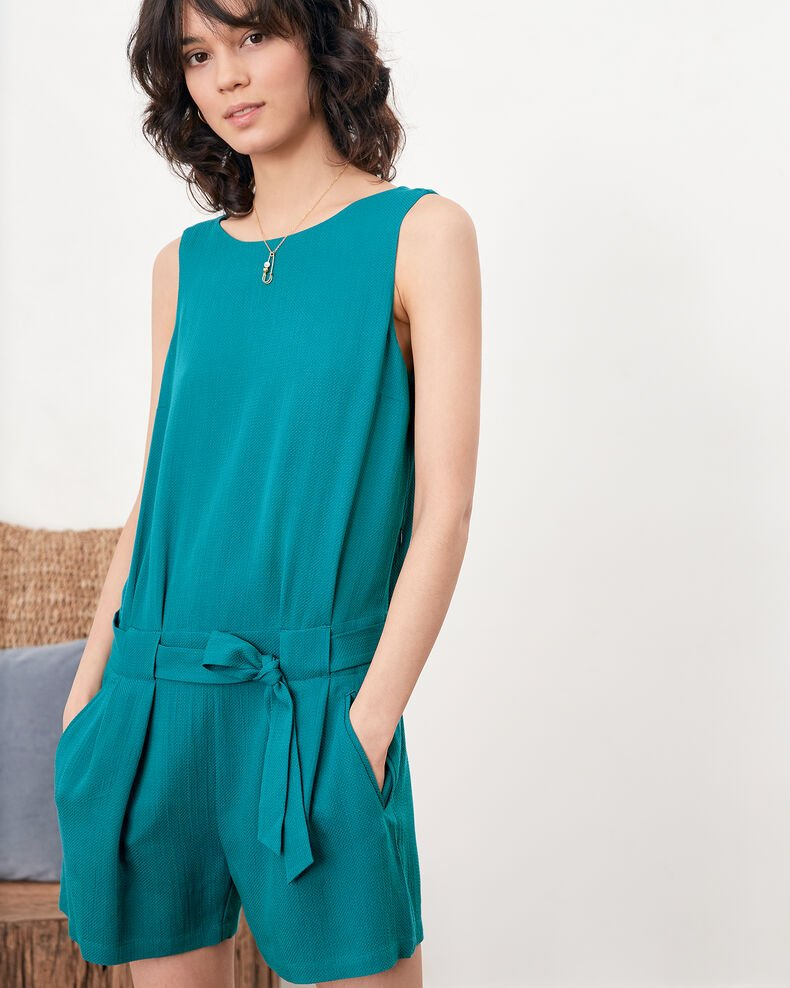 Playsuit with low-cut back Pacific green Festin