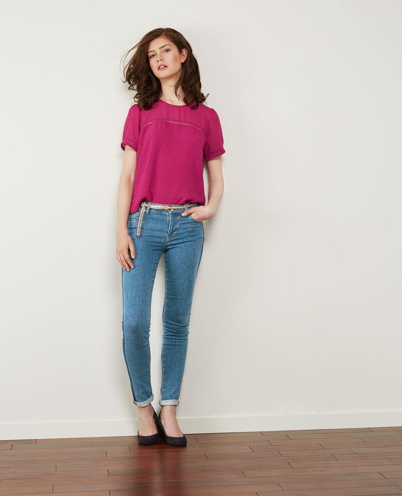 Two-tone cigarette jeans Indigo stripe Disquaire