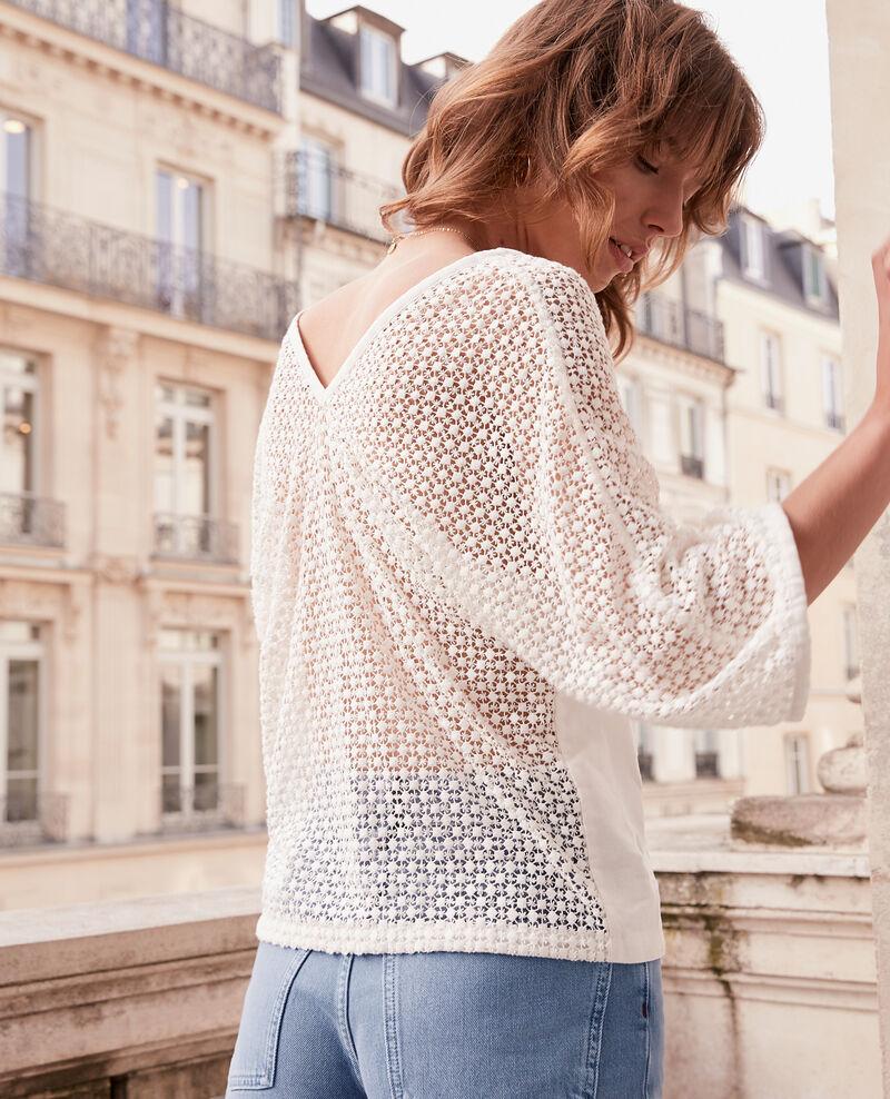 Bimaterial guipure blouse Kaolin Fonkey