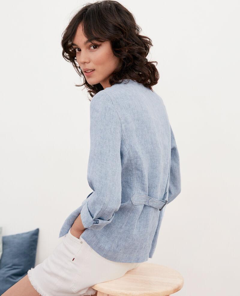 Soft linen jacket Azur Folitou
