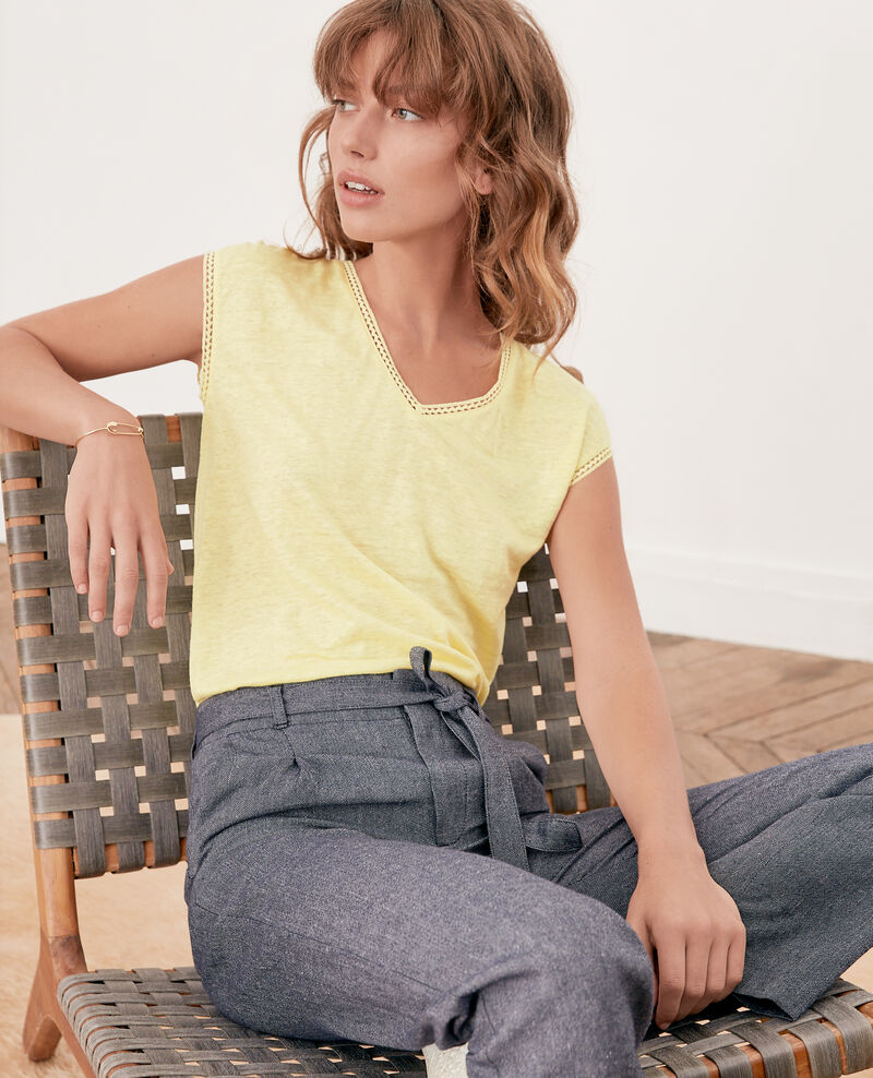 Linen T-shirt LEMONADE