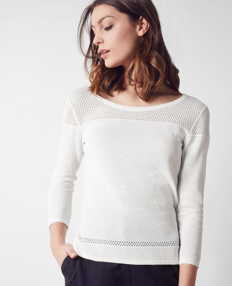 Jumper with openwork details Off white Carema