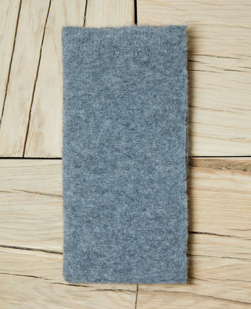 Fluffy scarf HEATHER GREY