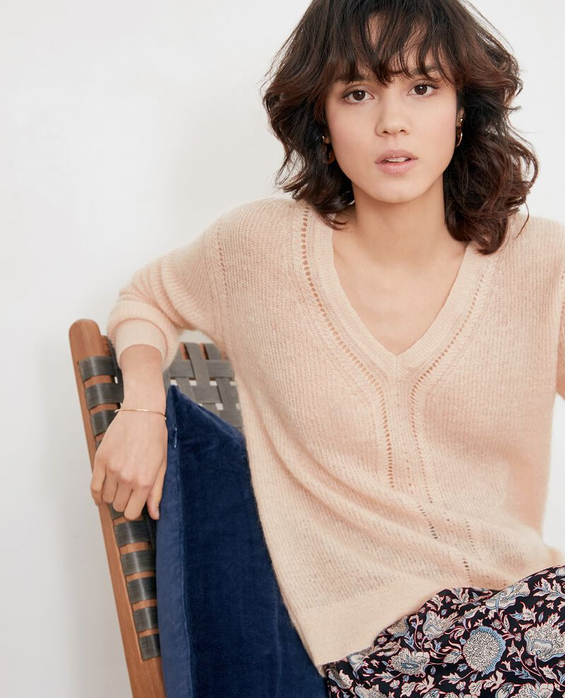 Jumper with mohair NUDE