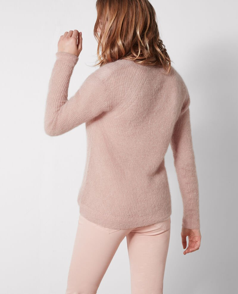 Jumper with mohair and wool Peach Cookie