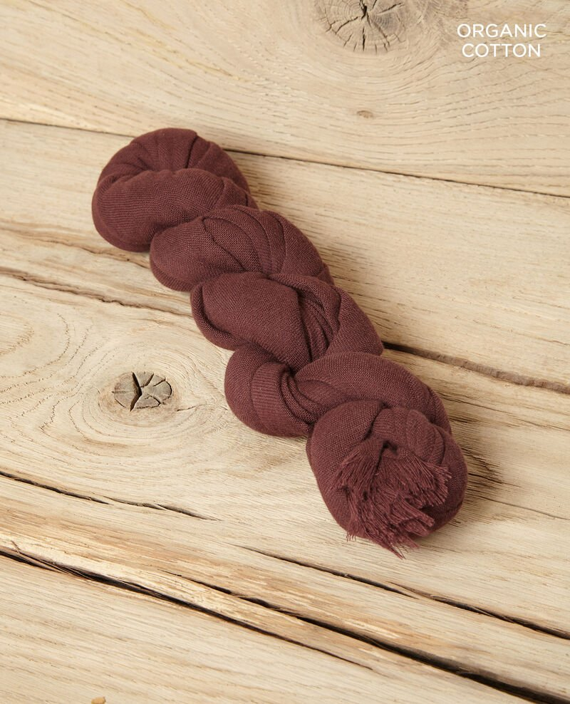 Cotton scarf Decadente chocolate Geste