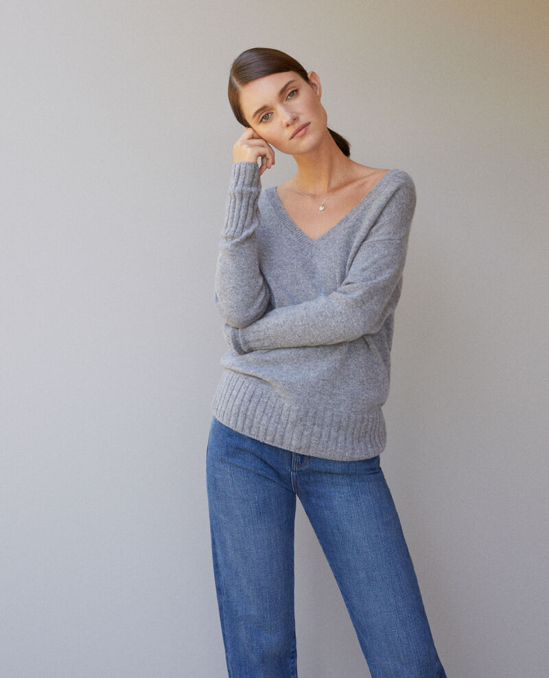 Cashmere jumper LIGHT HEATHER GREY