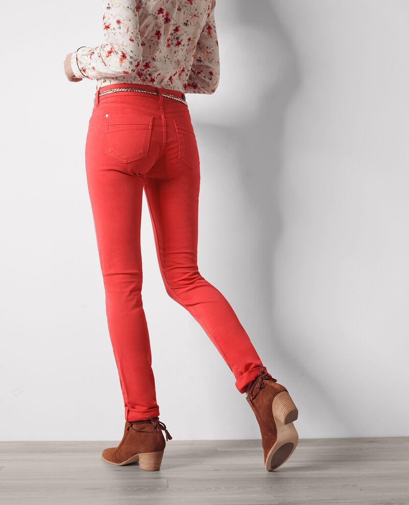 Fille dans le vent velvety-feel straight jeans  Tomette Cigogne