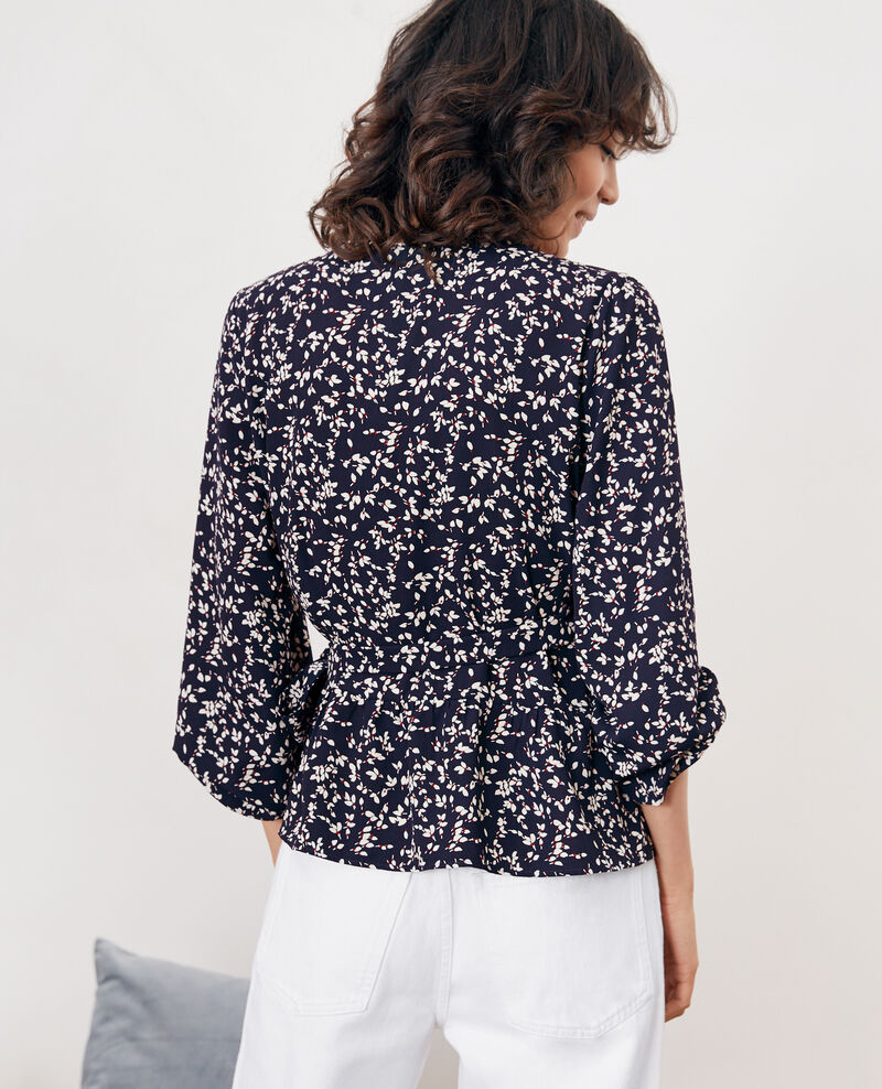 Printed wrap blouse Canopee marine Daddy