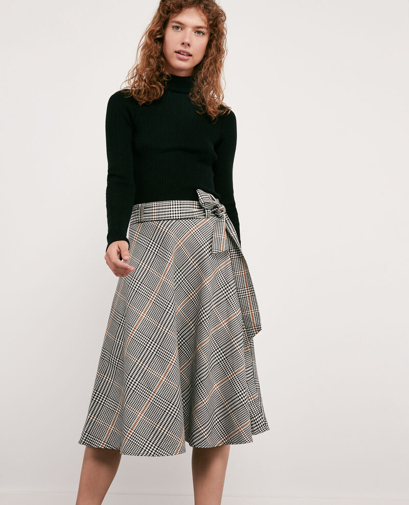 Skirt with herringbone print Kensington black Dija