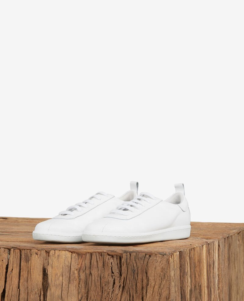 Leather trainers OFF WHITE