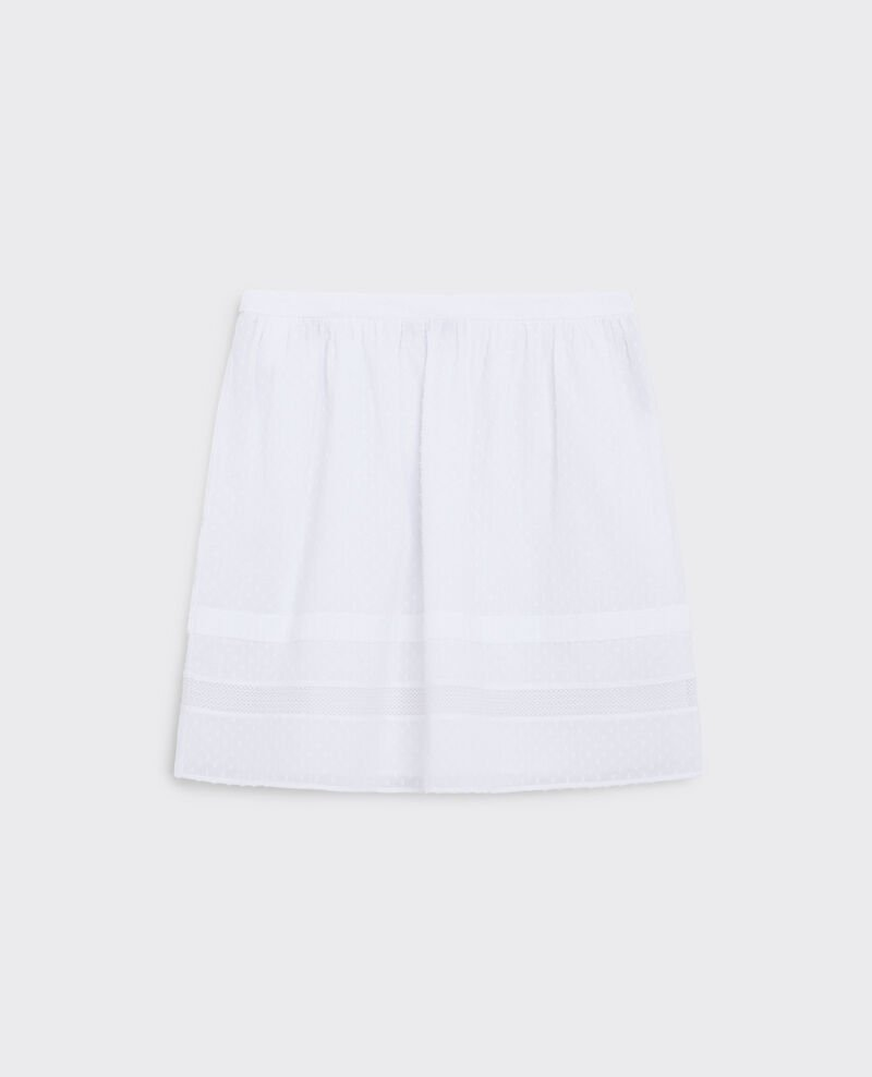 Dotted Swiss cotton skirt Blanc Cabra
