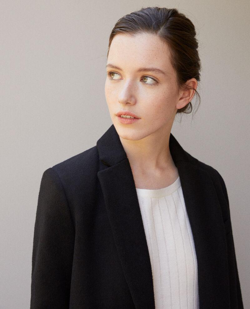 Coat with blazer collar Noir 9vexpress