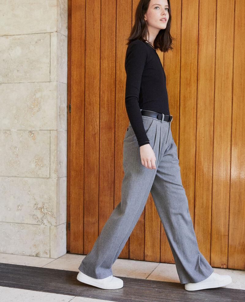Loose fit trousers Medium grey Gorgono