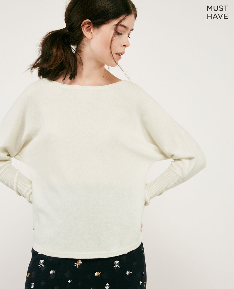 100% cashmere jumper Off white Delamour