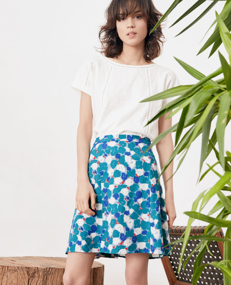 Printed skirt BLOSSOM SHADOW PACIFIC GREEN