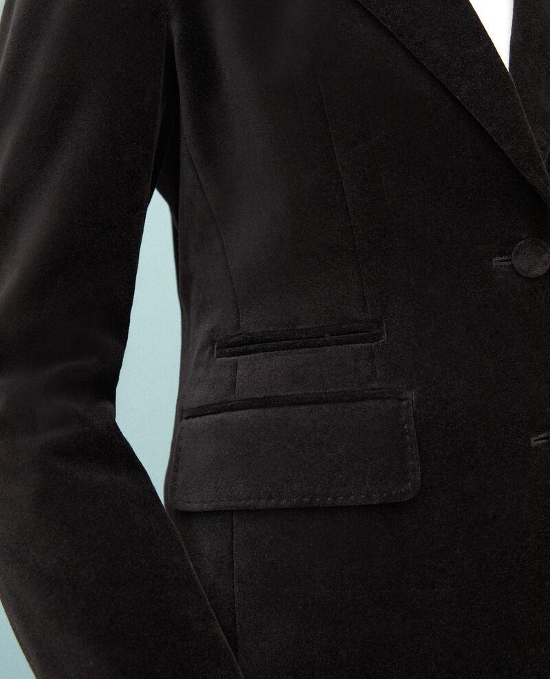 Velvet blazer  Noir Gabrielo