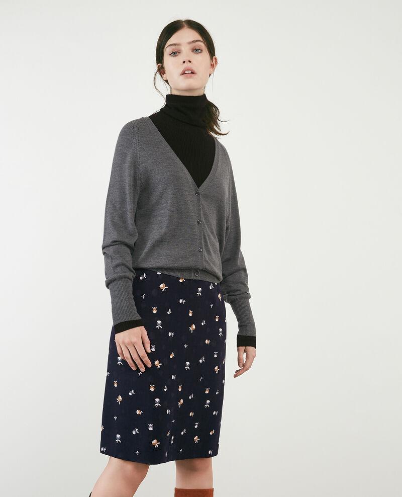 Merino wool cardigan Dark grey Doubt