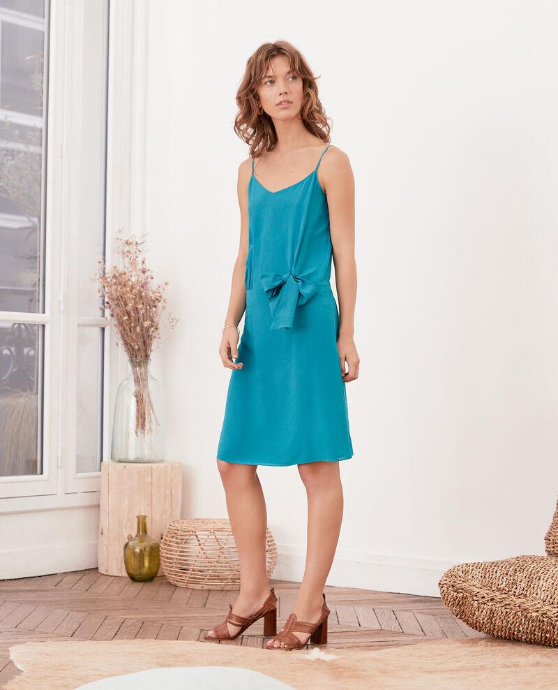 Silk dress PACIFIC GREEN