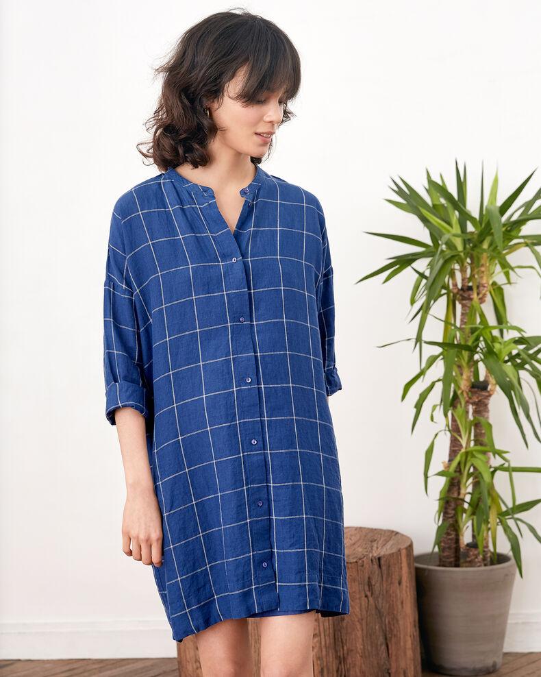 Loose linen dress  INDIGO