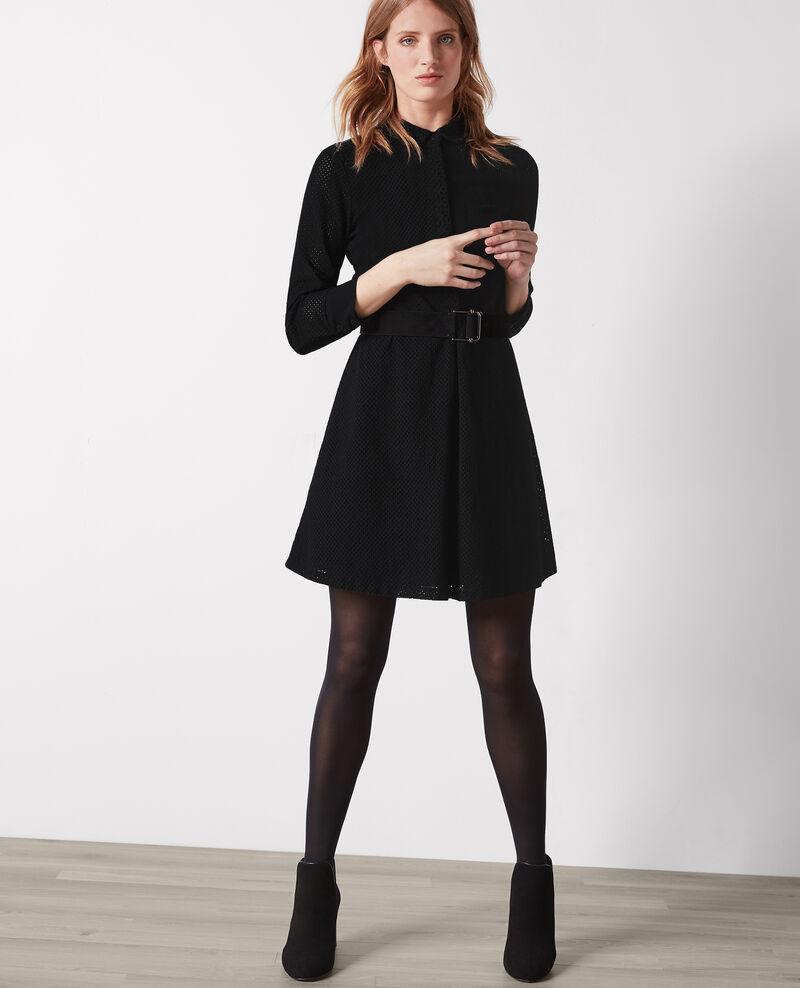 Broderie anglaise dress Noir Camomille