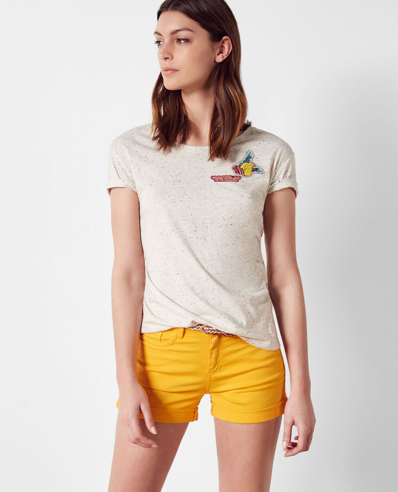 T-shirt with patches Lin Cordou