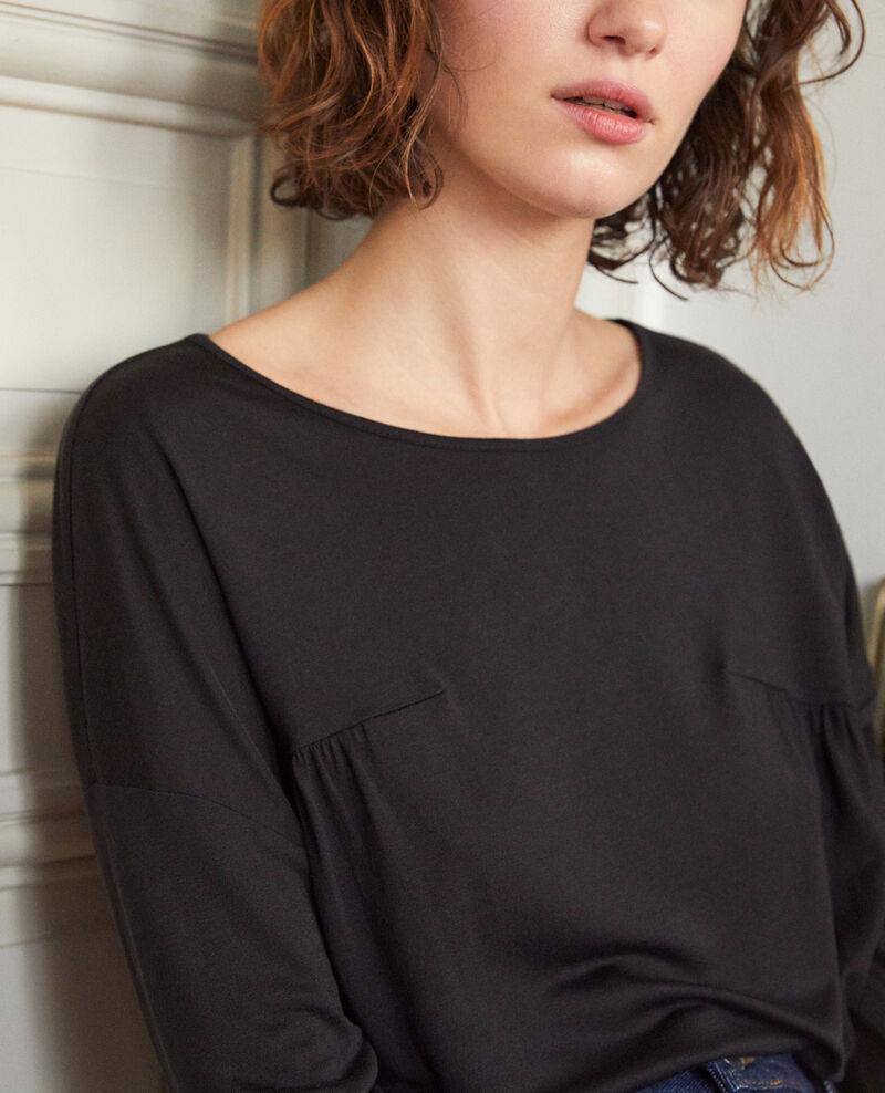 Round neck t-shirt Noir Graziela