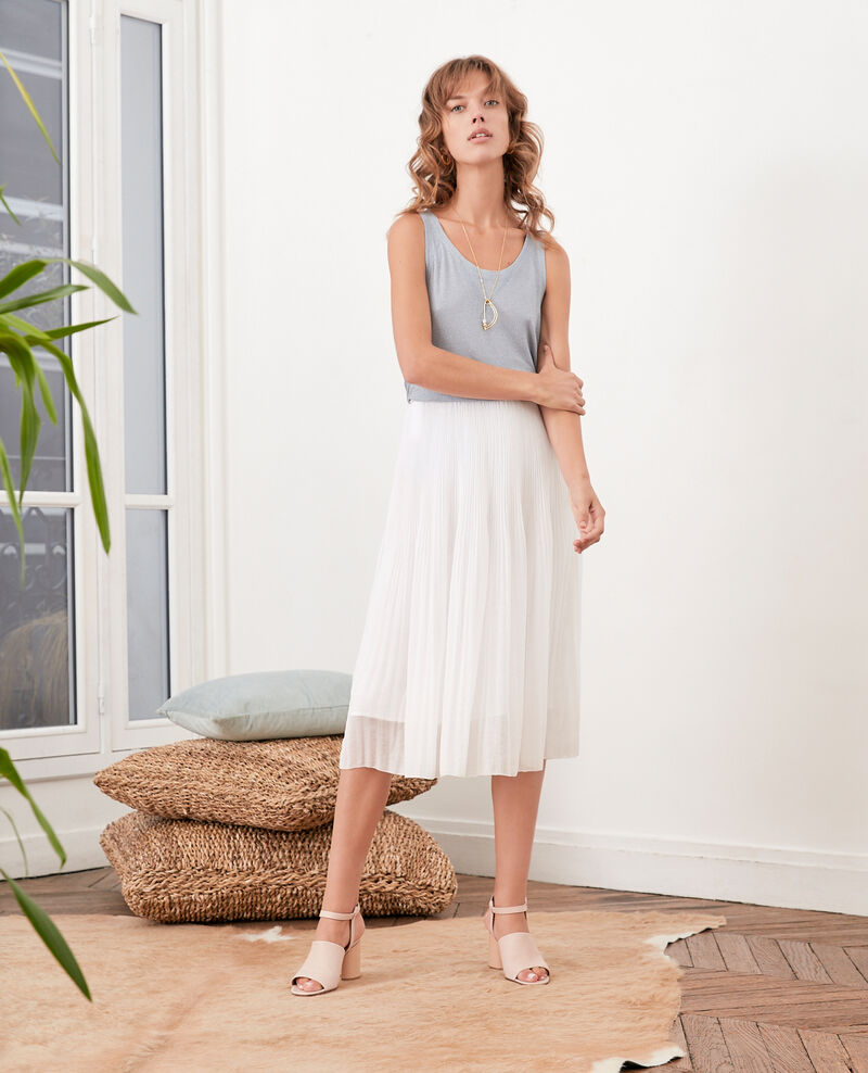 Pleated skirt Blanc Florie