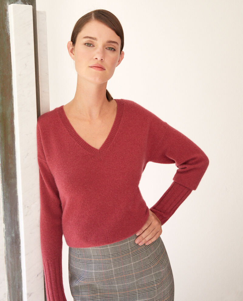 Cashmere jumper EARTH RED