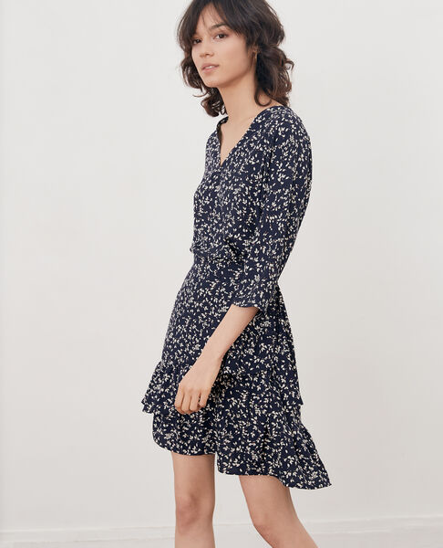 Comptoir des Cotonniers - Printed wrap dress Canopee marine - 1