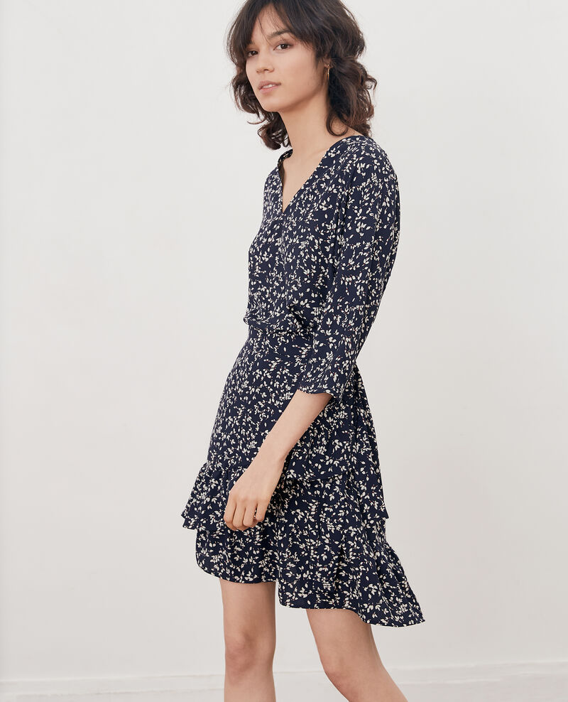 Printed wrap dress CANOPEE MARINE