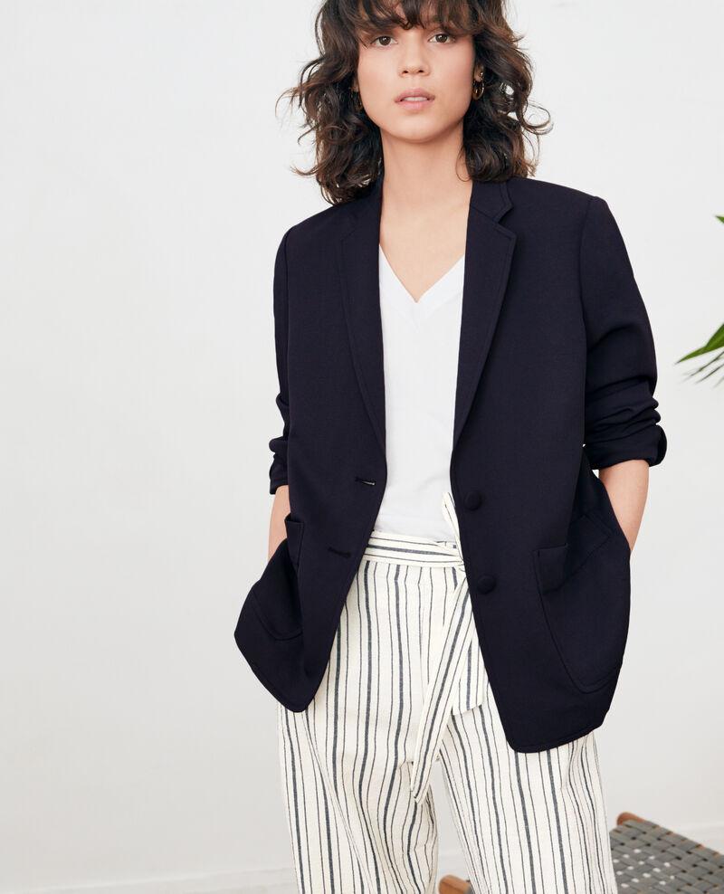 Crepe jacket MARINE