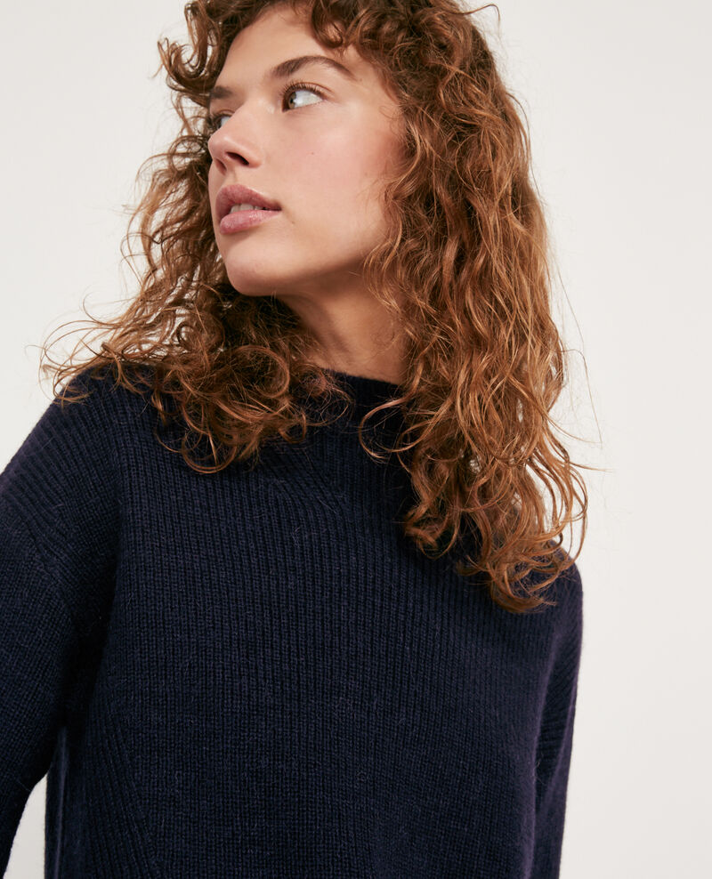 Woll and alpaca jumper Navy Damelila