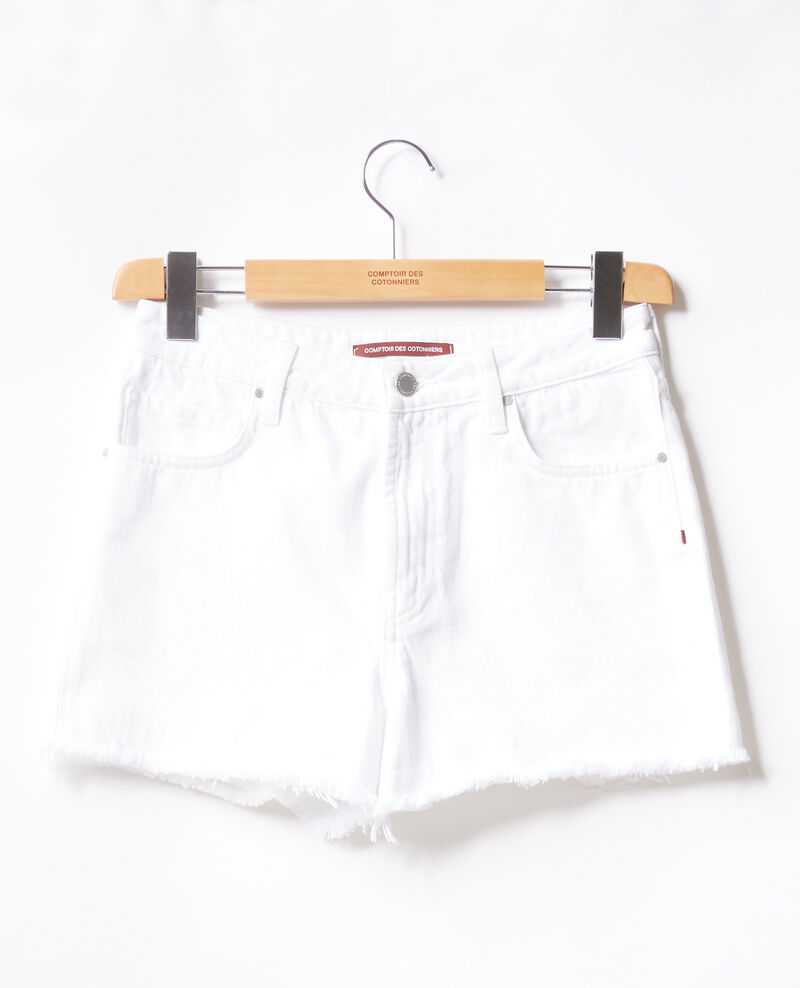 Fringed shorts Blanc Fintashort