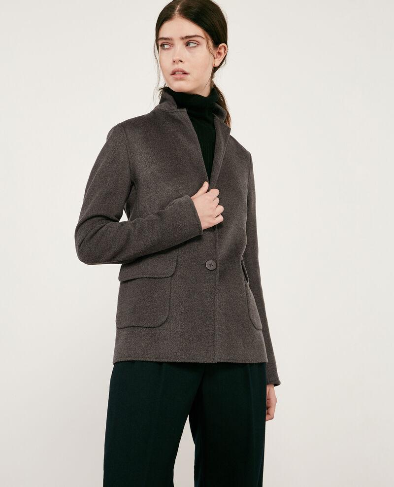 Double-faced wool jacket Dark heather grey Dalibaba