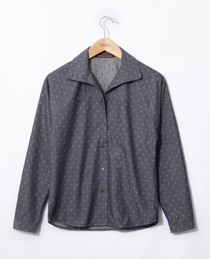 Straight-cut shirt Wp peacoat Gosy