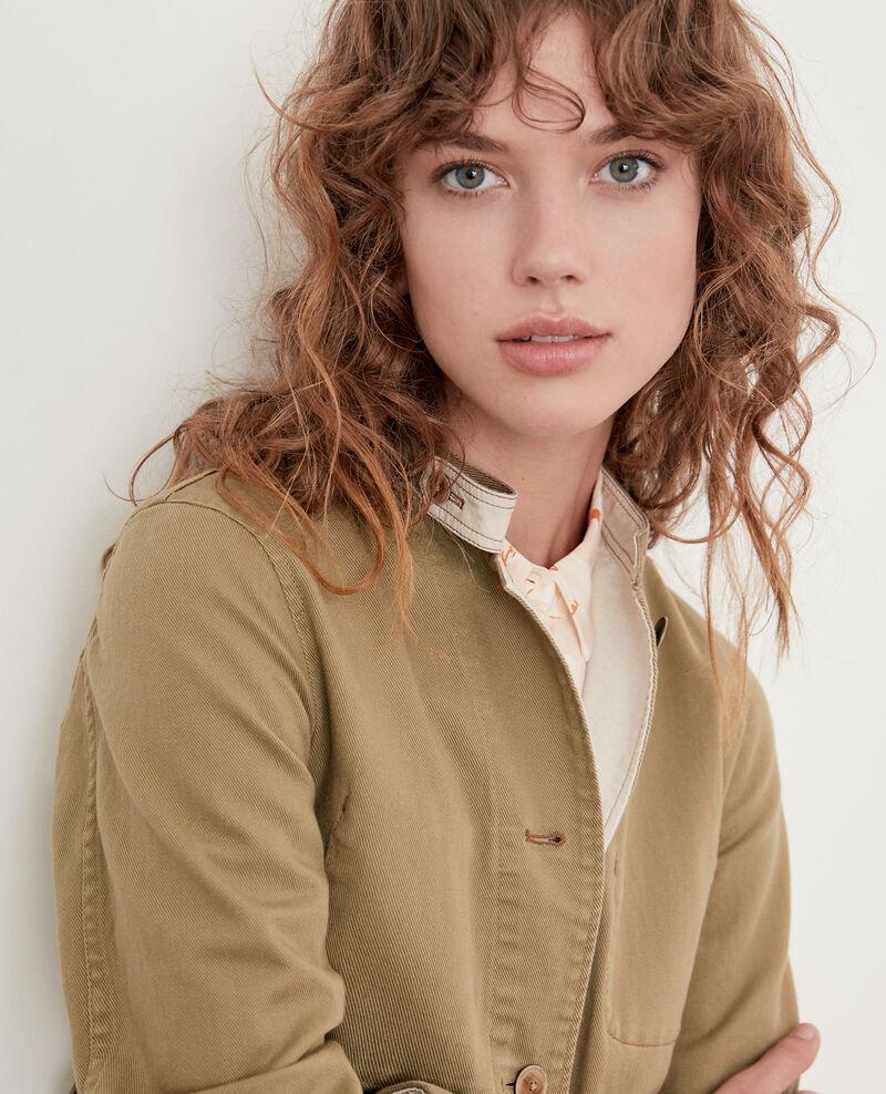 Mandarin collar jacket MASTIC