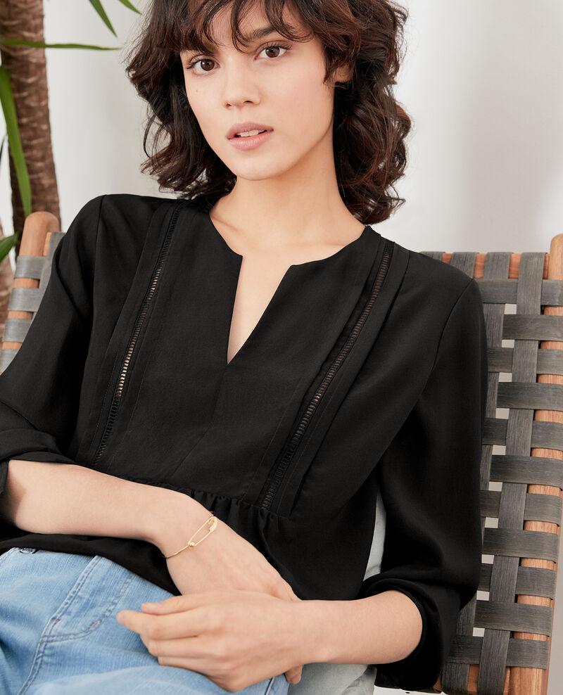Silk blouse NOIR