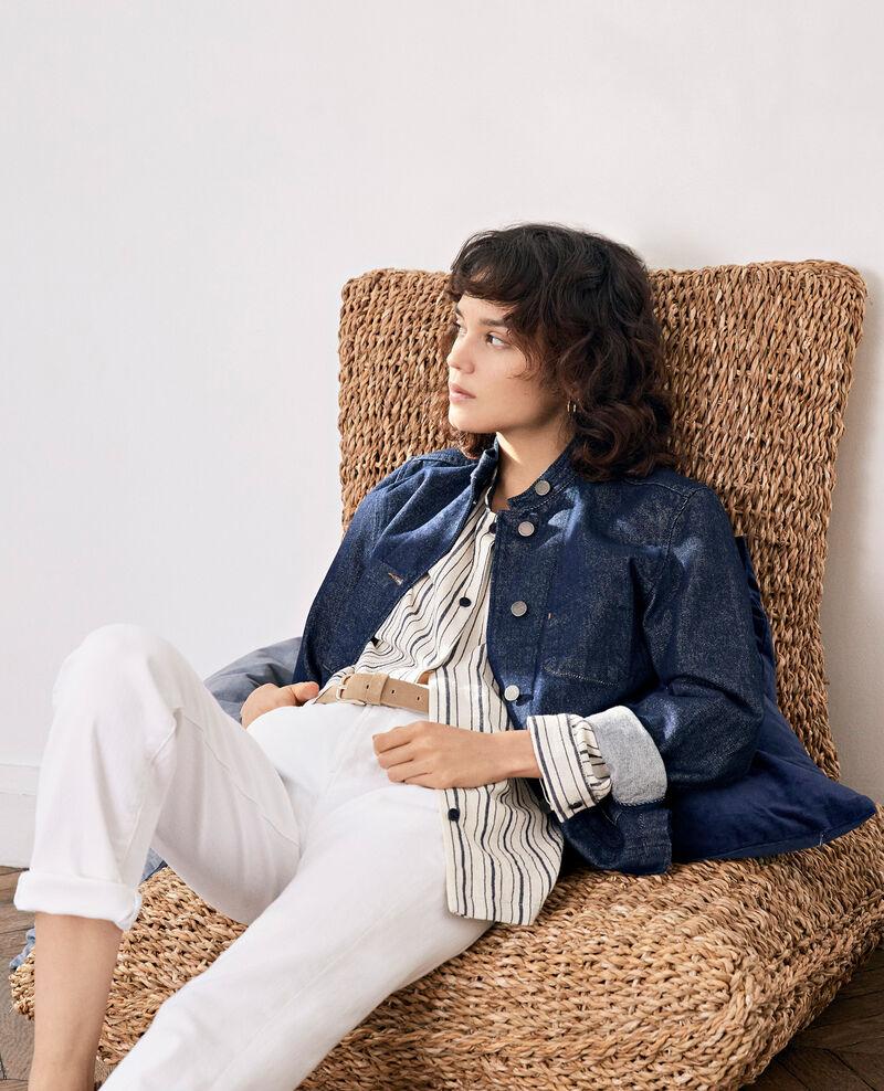 Denim jacket with stand-up collar Indigo Facajou