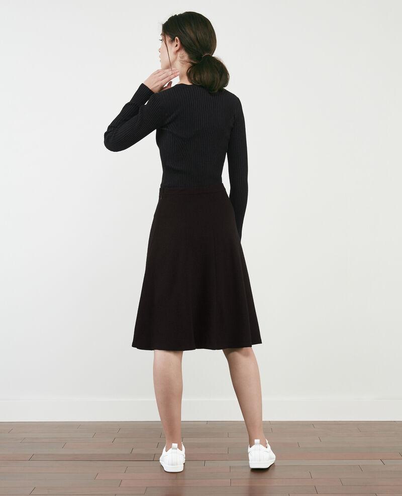 Wool blend skirt Noir Duchesse